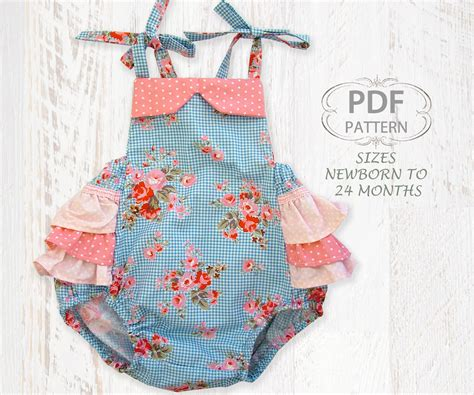 pattern sewing for baby baby sewing pattern for romper pdf sewing pattern for baby