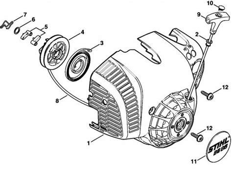 stihl bg 86 blower parts diagram stihl bg56 bg86 recoil starter stihl bg56 bg86
