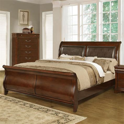 lifestyle furniture bedroom sets lifestyle c4116a traditional queen sleigh bed furniture