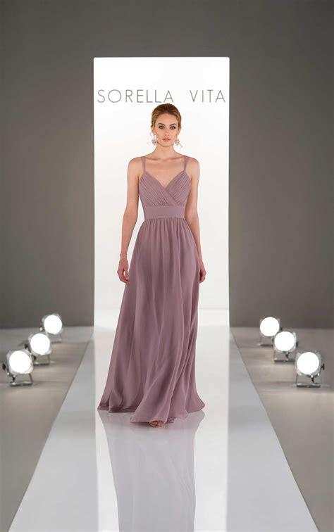 dream bridesmaid dress with ruched bodice sorella vita