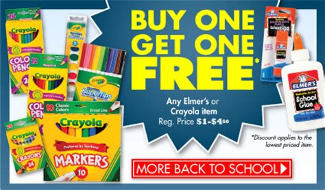 buy products crayola and elmers products buy one get one free at family dollar