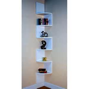 Small Corner Storage Unit Tall Zig Zag Small Corner Shelving Unit