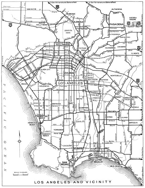 map los angeles california city maps at americanroads