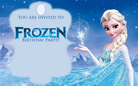 frozen invitation card free template free printable frozen invitations