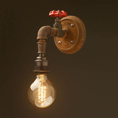 Tap Lights by Plumbing Pipe Tap Wall Light
