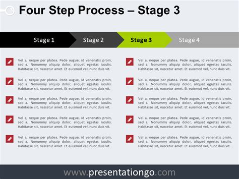 Process Steps Template 4 step process powerpoint template presentationgo