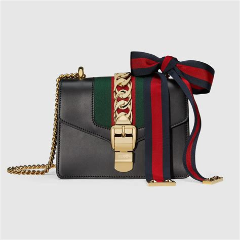 sylvie leather mini chain bag gucci s shoulder