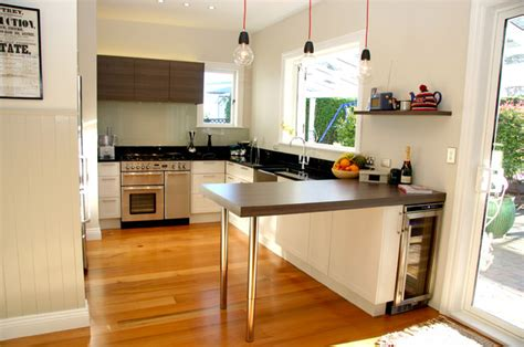 Small Galley Kitchen Design Ideas mixed traditional modern kitchen in small space