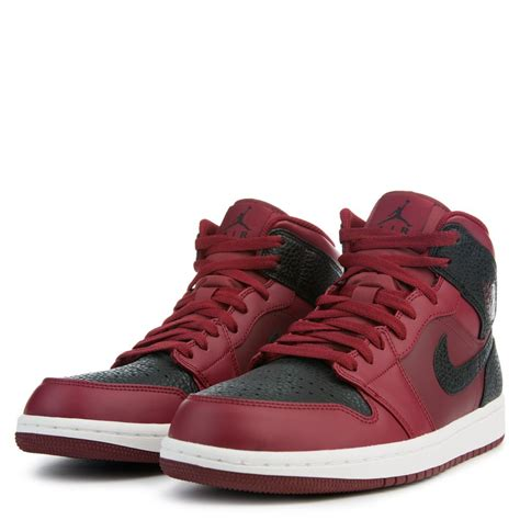 men jordan 1 c air jordan 1 mid team red black summit white