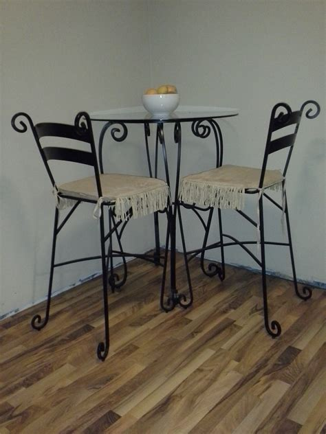 wrought iron pub table wrought iron pub table 2 chairs diggerslist