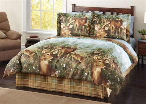 Lodge Bedding Sets In A Bag 4 Pc Woodland Deer Creek Wildlife Comforter Set Bed In A Bag Lodge Cabin Rustic Bags Beds And