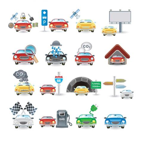 Car Icons by Car Icon Collection Vector Free