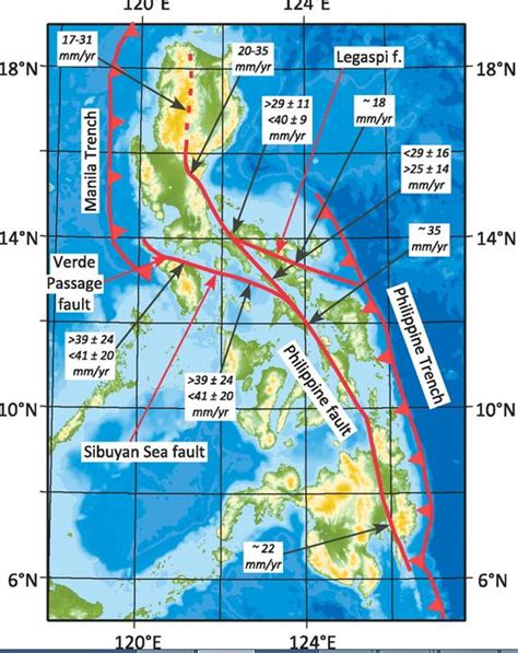 earthquake fault lines bohol cebu earthquake strongest to hit the philippines in