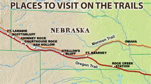 map of oregon trail with landmarks landmarks on the route west chimney rock and scottsbluff