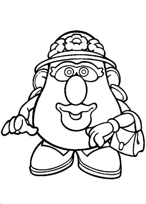 Coloring Page Mr Potato Head Kids N Fun School Mrs Potato Coloring Pages