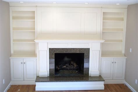 Fireplace Cabinets by Fireplace Surround With Shelving And Cabinets By Garyl