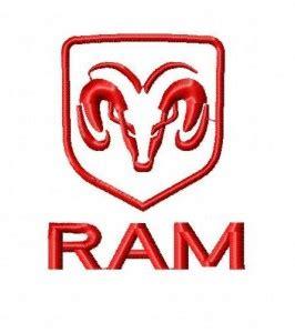 ram design dodge ram embroidery design