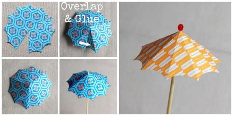 How To Make Paper Umbrella For Drinks - diy cocktail umbrellas alyssa and carla