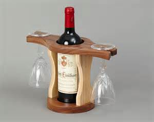 beautiful Wood Wine Glass And Bottle Holder #2: Wine-Bottle-and-Glass-Holder-07-Lo-Res.jpg