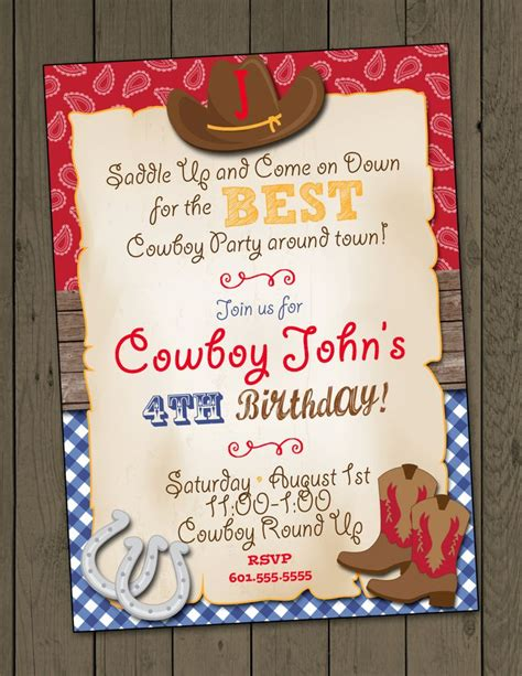 western birthday card template best 25 cowboy invitations ideas on