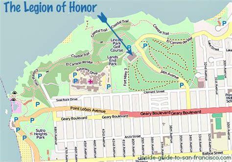 san francisco lot map the legion of honor san francisco tips and photos