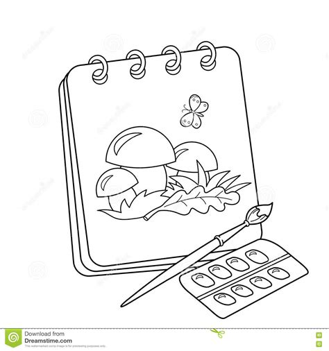 coloring book album free coloring page outline of album or sketchbook with
