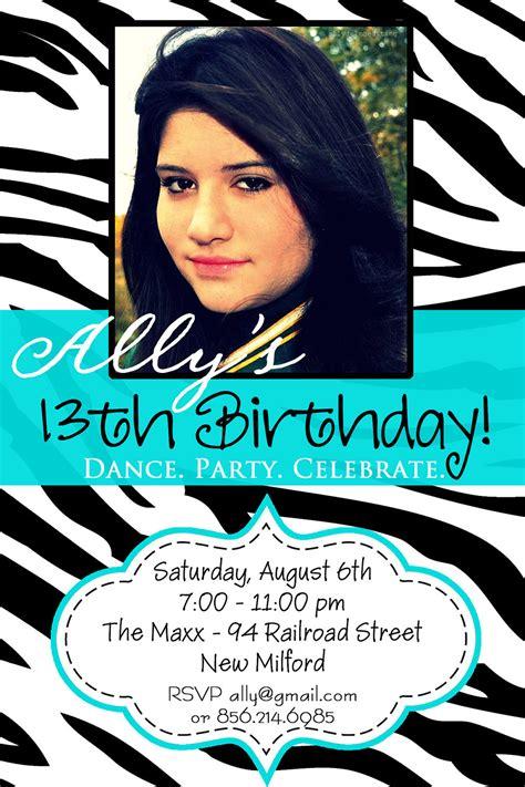 wording 13th birthday invitations 13th birthday invitation ideas bagvania free