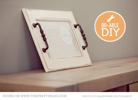 diy serving tray how to create a serving tray from an old photo frame