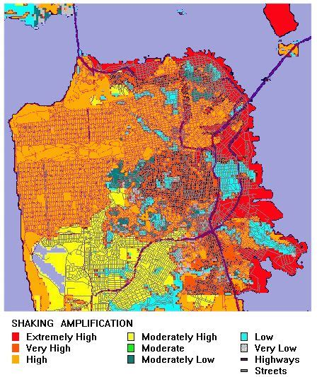 san jose seismic hazard map san francisco earthquake risk map michigan map