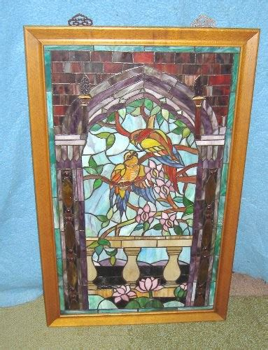 Antique Stained Glass Doors For Sale Stained Glass Parrots Dd298 For Sale Antiques Classifieds