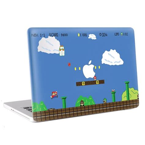 Macbook Pro 13 Skin Aufkleber by Mario World Macbook Skin Aufkleber