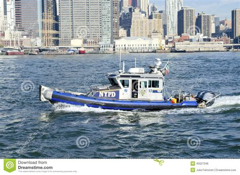 the dream boat new york times nypd boat editorial photo image 45027346