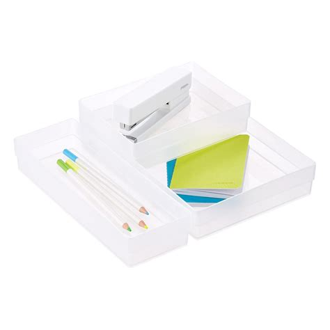 stacking drawer organizers clear shallow stackable drawer organizers the container
