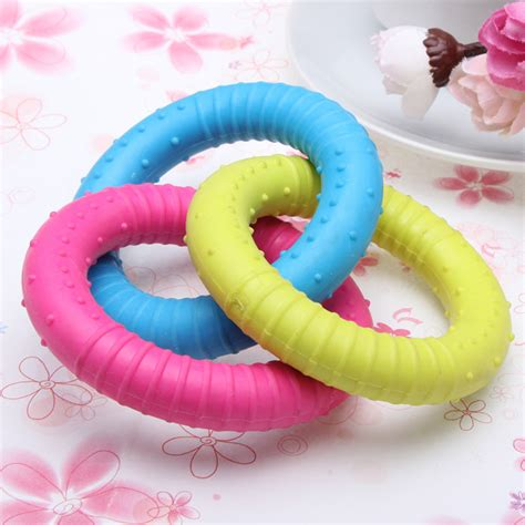 Ring Molar Pet Toys Intl molar teeth rubber three color ring for pets dogs cats