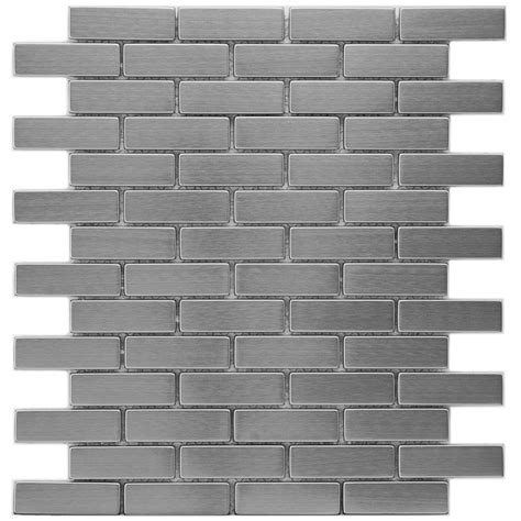 subway tile four over one design merola tile meta subway 10 1 2 in x 12 1 4 in x 8 mm