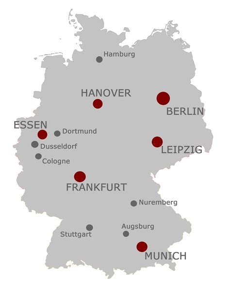 map of germany showing cities map of germany with cities major cities in germany