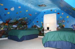 Painted Wall Murals For Kids coral reef mural by artist todd fendos