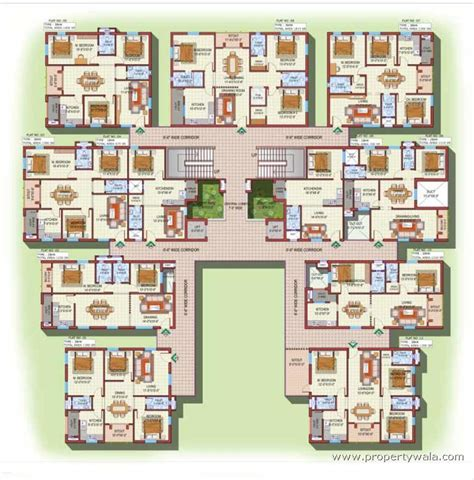 Bus Floor Plans Incor Bonsai Homes Tellapur Hyderabad Apartment