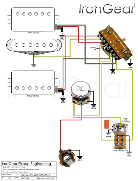 stratocaster 5 way switch wiring diagram with blend with