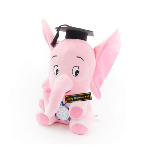 Boneka Wisuda 2017 jual boneka gajah pink murah jogja kado wisudaku
