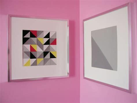 Triangle Patchwork - diy framed triangle patchwork
