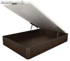 lit bois abattant avec coffre de rangement weng 233 160 200