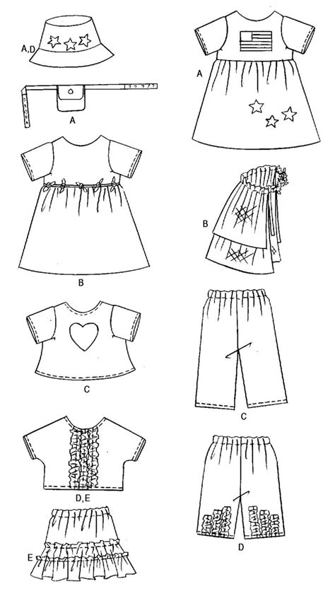 clothes pattern for dolls free printable doll clothes patterns images butterick