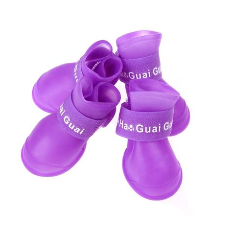silicone puppies ebay silicone pet puppy waterproof protective adjustable walk shoes boots size l ebay
