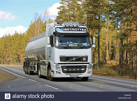 2017 volvo semi salo finland april 21 2017 white volvo fh semi tank