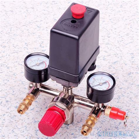 90 120psi air compressor pressure switch valve manifold regulator gauges ebay