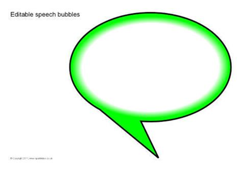 editable speech template editable speech bubbles reversed sb6008 sparklebox