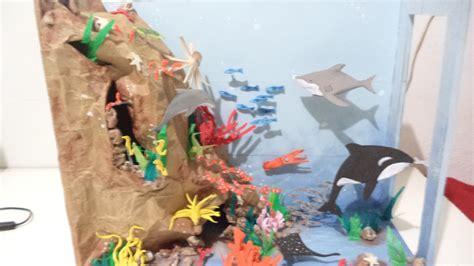como hacer una maqueta del oceano ecosistema marino 1 maqueta youtube