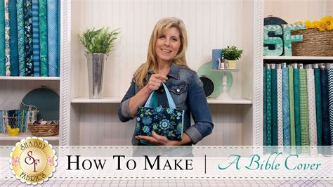 how to make a quilted bible cover a shabby fabrics sewing tutorial youtube