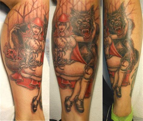 joe love tattoo little red riding hood